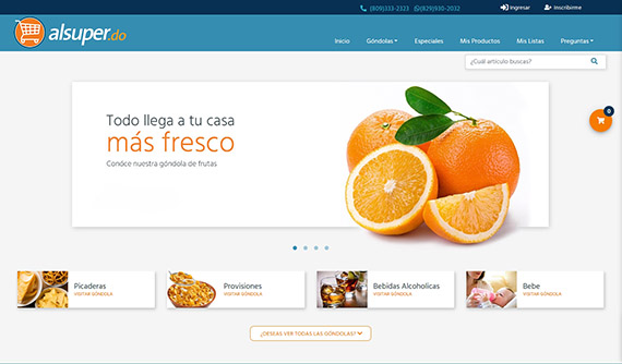 Online supermarket AlSuper.do